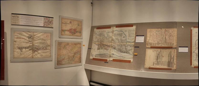 Mapping the Territory: Hudson County in Maps, 1840-2013; Hoboken Historical Museum exhibition, Jan. to Sept., 2013, Section 1 to 2-1