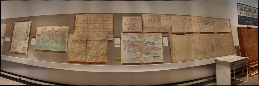 Hoboken Historical Museum exhibition - Mapping the Territory: Hudson County in Maps, 1840-2013, Jan. - Sept. 2013 Section 2-2