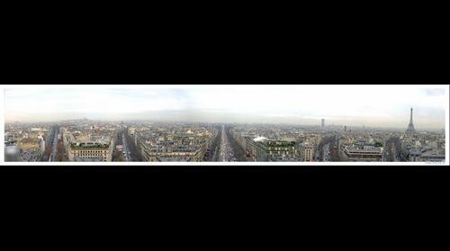 Panorama di Parigi dall'arco di Trionfo