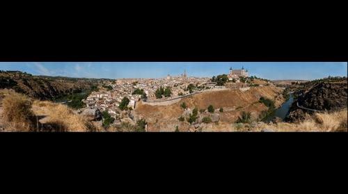 Toledo, 240º desde el Cerro del Bú