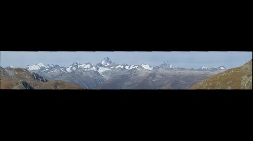 Panorama with some Swiss Mountains