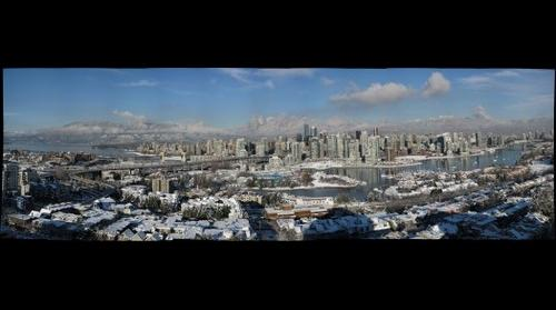 Vancouver in deep snow