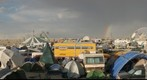 Burning Man 2007 with rainbow from 2:45