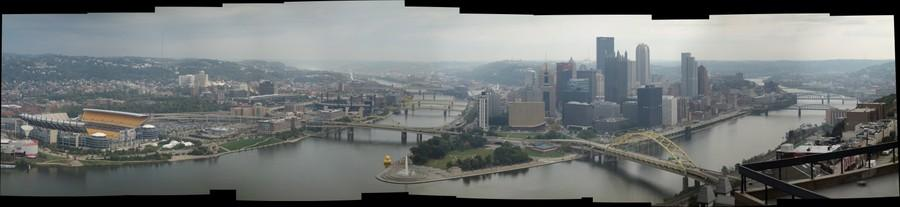 Pittsburgh from Trimont bldg 12th floor