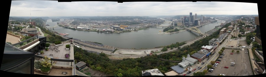 Pittsburgh from Trimont roof, lower level