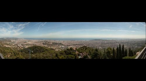 Barcelona panorama from Tibidabo