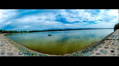 Panorama at Sukhna Lake, Chandigarh, India