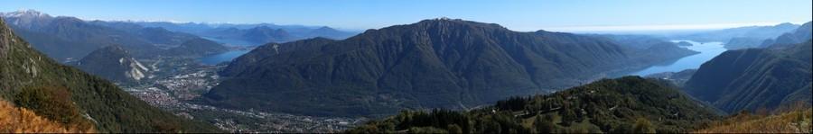 panorama dall'alpe quaggione