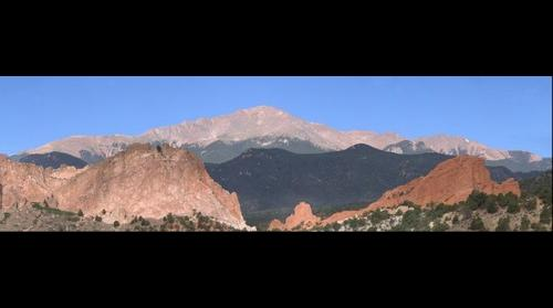 Pikes Peak, behind Garden f the Gods, Colorado