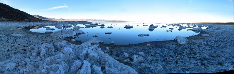 East Mono Lake in the Sierra Shadow  LEFT image of a stereo pair