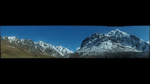 Panorama of Eastern Himalayas in Bhutan