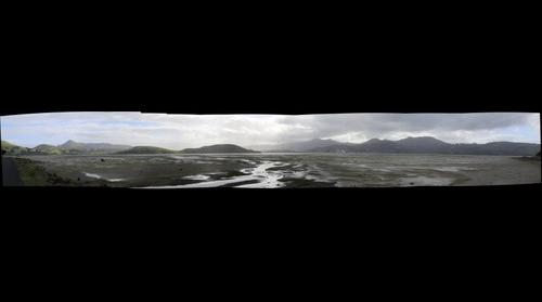 Panorama looking towards Portobello, Otago Peninsula, New Zealand