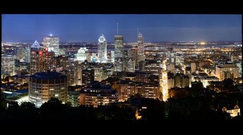 Montréal (lueur bleue)