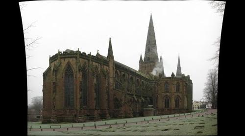 Lichfield Cathedral Rear View