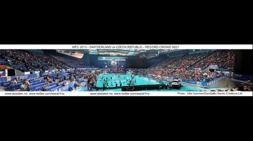 WFC 2013 - Switzerland vs Czech Republic - Crowd : 5021 !!