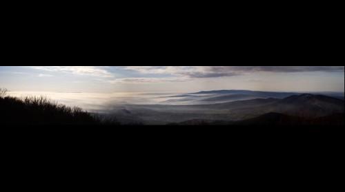 Panoráma a Zengőről 2013. december 20-án