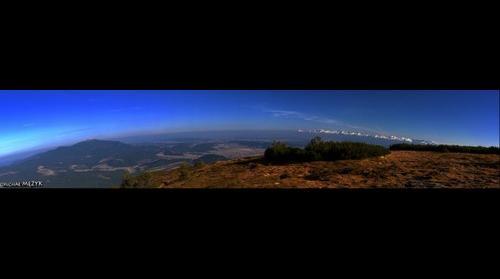 Panorama of  Babia Góra and Tatry Mountains