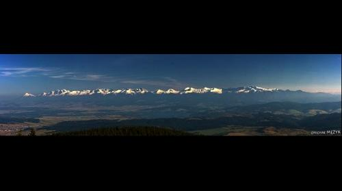 Panorama of Tatry Mountains