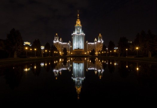 Moscow MGU University, night