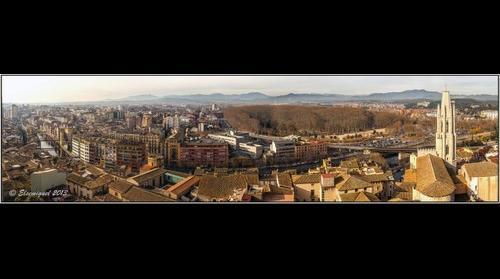Panorámica realizada desde la Catedral de Girona.