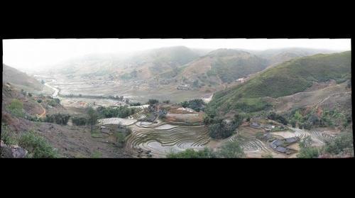 Black Hmong hamlet near Sapa, Vietnam