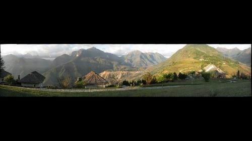 Sunrise, mountains near Sapa, Vietnam