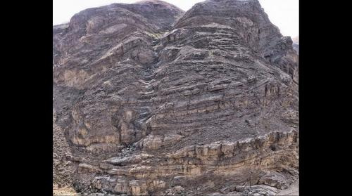 Oman Sheath Folds at Wadi Mayh