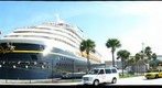 Disney Wonder Cruise Ship, at Port Canaveral, Florida, USA