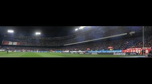 Panoramica en el Calderón Atlético - Real Madrid