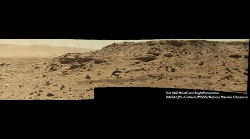 Sol 540 MastCam Right Panorama