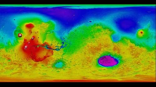 MOLA Topo Map of Mars