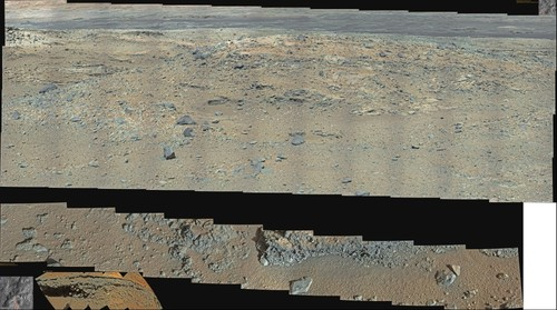 MSL Curiosity @Violet Valley Sol 542 and 549