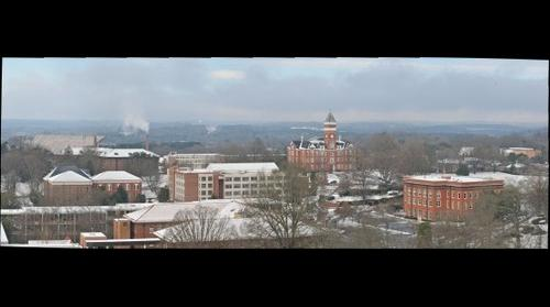 Clemson University from Manning Hall roof on February 13, 2014