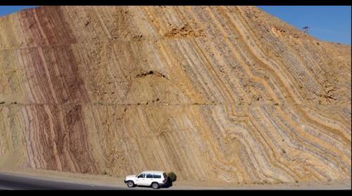 Outcrop along Highway 15, Oman