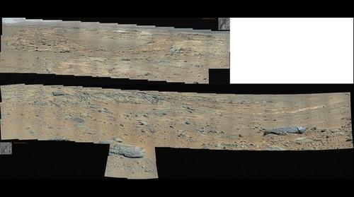 MSL Curiosity driving toward the base of Aeolis Mons Sol 551
