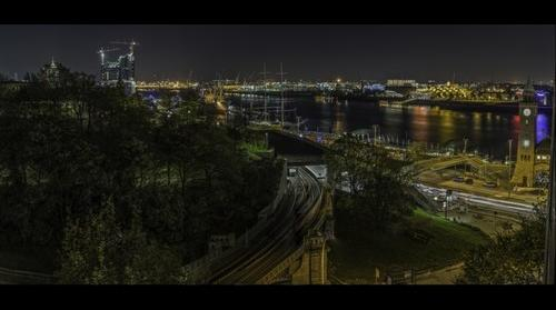Hamburg Habor View by Night