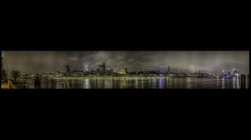 Hamburg Skyline by Night