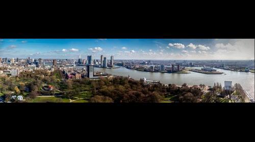 Rotterdam vanaf de euromast 2 maart 2014