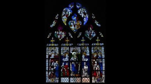 Cathédrale de Moulins, vitrail de Ste Catherine