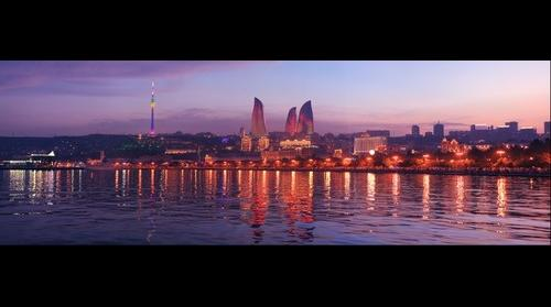 Baku night panorama