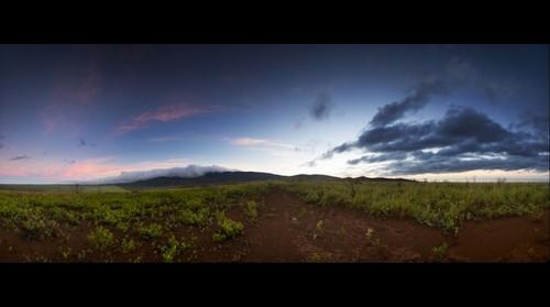 Sunrise at Palawai Basin and Lana`i Hale, Lana`i, Hawai`i