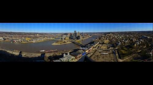 Balcony View of Downtown Pittsburgh and surrounding Neighborhoods
