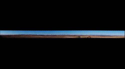 Rocky Mountain panorama from Lethbridge, AB