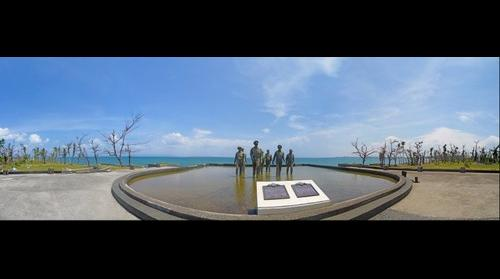 Mc. Arthur Monument in Leyte Gulf