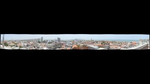 Panoramica de Cartagena desde la torre UDC