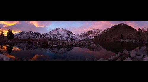 Convict Lake Winter Sunrise