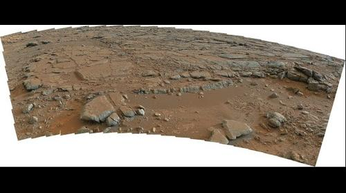 MSL Curiosity @Yellowknife Bay area in Gale crater, Mars - Sol 173 remade Pano with PDS data