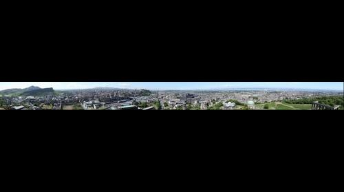 Edinburgh 352° from Nelson Monument at Calton Hill