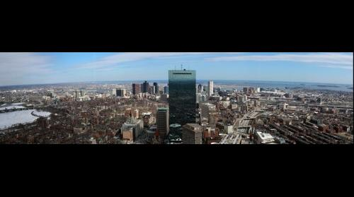 Boston from Top of the Hub