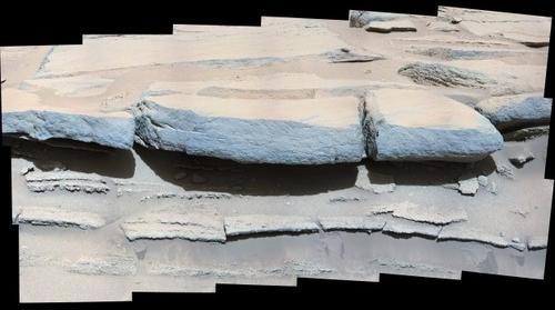 Curiosity sol 0576 of rock outcrop near Kimberley